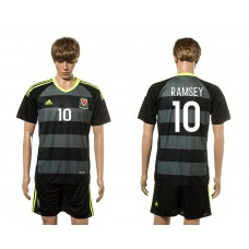 European Cup 2016 Welsh Away 10 Ramsey soccer jerseys