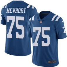 2016 Nike Indianapolis Colts 75 Jack Mewhort Royal Blue Mens Stitched NFL Limited Rush Jersey
