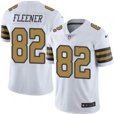 2016 Nike New Orleans Saints 82 Coby Fleener White Mens Stitched NFL Limited Rush Jersey