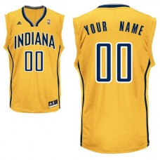 Men Adidas Indiana Pacers Custom Replica Alternate Yellow NBA Jersey