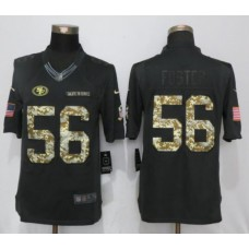 2017 NFL New Nike San Francisco 49ers 56 Foster Anthracite Salute To Service Limited Jersey