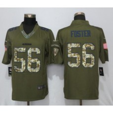 2017 NFL New Nike San Francisco 49ers 56 Foster Green Salute To Service Limited Jersey