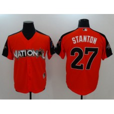 2017 MLB All-Star Miami Marlins 27 Stanton Orange Jerseys
