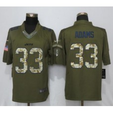 2017 NFL Women Nike New York Jets 33 Adams Green Salute To Service Limited Jersey