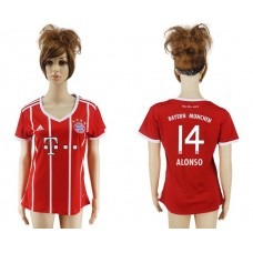 2017-2018 Club Bayern Munich home aaa verion women 14 red soccer jersey