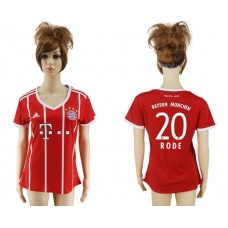2017-2018 Club Bayern Munich home aaa verion women 20 soccer jersey