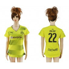 2017-2018 Club Dortmund home aaa verion women 22 soccer jersey