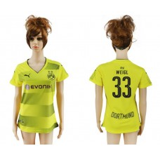 2017-2018 Club Dortmund home aaa verion women 33 soccer jersey
