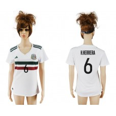 2017-2018 national Mexico away aaa verion women 6 occer jerey