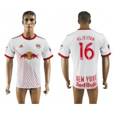 Men 2017-2018 club New York Red Bulls home aaa version 16 white soccer jersey
