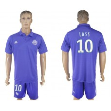 Men 2017-2018 club Marseille second away 10 purple soccer jersey