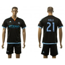 Men 2017-2018 club New York City FC away 21 black soccer jersey
