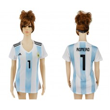 2018 World Cup Argentina home aaa version women 1 soccer jersey
