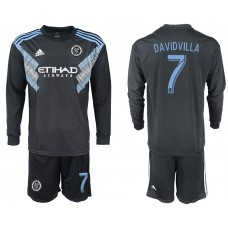 2018-2019 Club Men New York City away long sleeve 7 soccer jersey