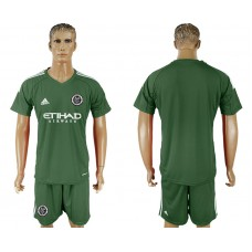2018-2019 Men club New York City army green goalkeeper soccer jersey