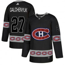 2018 NHL Men Montreal Canadiens 27 Galchenyuk black jerseys