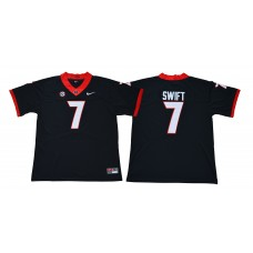 Men Georgia Bulldogs 7 Swift Legend Black NCAA Jerseys