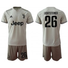 Men 2018-2019 club Juventus away 26 grey Soccer Jerseys