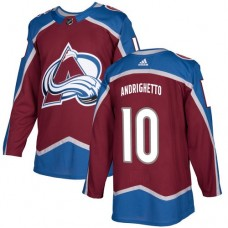 Adidas Colorado Avalanche 10 Sven Andrighetto Burgundy Home Authentic Stitched Youth NHL Jersey