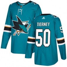 Adidas Men San Jose Sharks 50 Chris Tierney Teal Home Authentic Stitched NHL Jersey