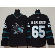 Adidas Men San Jose Sharks 65 Erik Karlsson Black Alternate Authentic Stitched NHL Jersey
