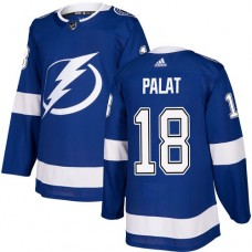 Adidas Men Tampa Bay Lightning 18 Ondrej Palat Blue Home Authentic Stitched NHL Jersey
