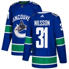 Adidas Men Vancouver Canucks 31 Anders Nilsson Blue Home Authentic Stitched NHL Jersey