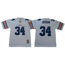 Men Auburn Tigers 34 Jackson White Throwback NCAA Jerseys