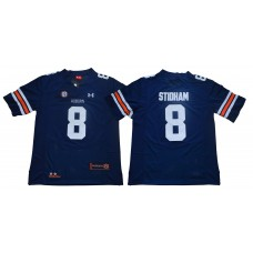 Men Auburn Tigers 8 Stidham Blue SEC NCAA Jerseys
