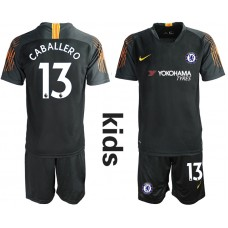 2018_2019 Club Chelsea black Youth goalkeeper 13 soccer jerseys