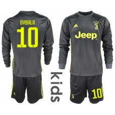 2018_2019 Club Juventus away long sleeves Youth 10 soccer jerseys