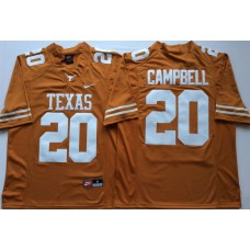 Men Texas Longhorns 20 Campbell Yellow Nike NCAA Jerseys