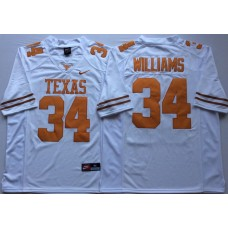 Men Texas Longhorns 34 Williams White Nike NCAA Jerseys
