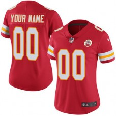 2019 NFL Women Nike Kansas City Chiefs Home Red Customized Vapor jersey