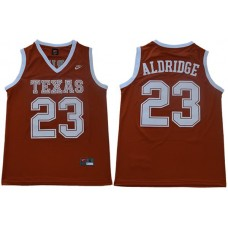 Men Texas Longhorns 23 Aldridge Orange Nike NCAA Jerseys