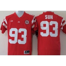 Men Nebraska Huskers 93 Suh Red NCAA jerseys