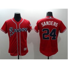 2016 MLB FLEXBASE Atlanta Braves 24 Sanders red jerseys