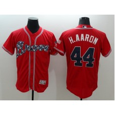 2016 MLB FLEXBASE Atlanta Braves 44 H,Aaron Red Jersey