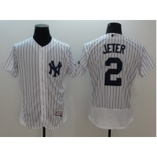 2016 MLB FLEXBASE New York Yankees 2 Jeter white jerseys