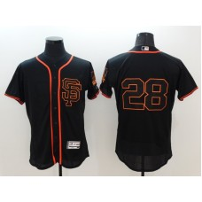 2016 MLB FLEXBASE San Francisco Giants 28 Posey black jerseys