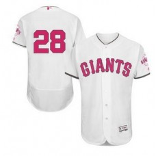 2016 MLB FLEXBASE San Francisco Giants 28 Posey white mother's day  jerseys