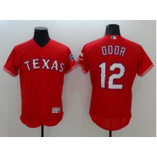 2016 MLB FLEXBASE Texas Rangers 12 Odor Red Jerseys