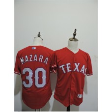 2016 MLB FLEXBASE Texas Rangers 30 Mazara Red Elite Jerseys