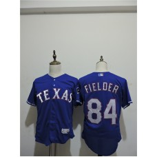 2016 MLB FLEXBASE Texas Rangers 84 Prince Fielder Blue Elite Jerseys