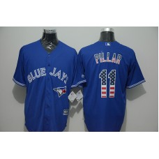 2016 MLB FLEXBASE Toronto Blue Jays 11 Pillar blue jersey