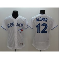 2016 MLB FLEXBASE Toronto Blue Jays 12 Alomar white jerseys