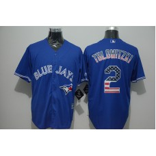 2016 MLB FLEXBASE Toronto Blue Jays 2 Tulowitzki blue jersey