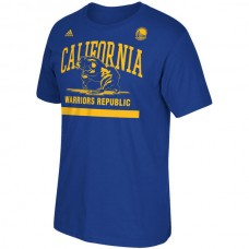 2016 NBA Golden State Warriors adidas Cali Bear T-Shirt - Royal