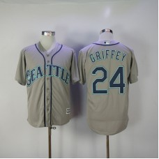 2017 MLB Seattle Mariners 24 Griffey Grey Game Jerseys