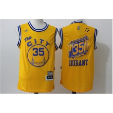 2016 NBA Golden State Warriors 35 Kevin Durant Yellow Jerseys